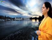 Anandmurti Gurumaa  wallpaper , blue , white and yellow color