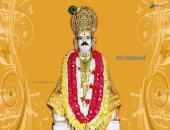 Baba Gangaram Ji wallpaper, yellow, white and red color