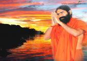 Baba Ramdev Ji image, yellow adn orange color