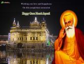 Guru Nanak Jayanti Wallpaper Green, Yellow and Brown Color
