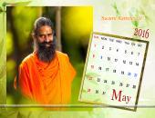 Swami Ramdev Ji May 2016 Monthly Calendar Wallpaper,
